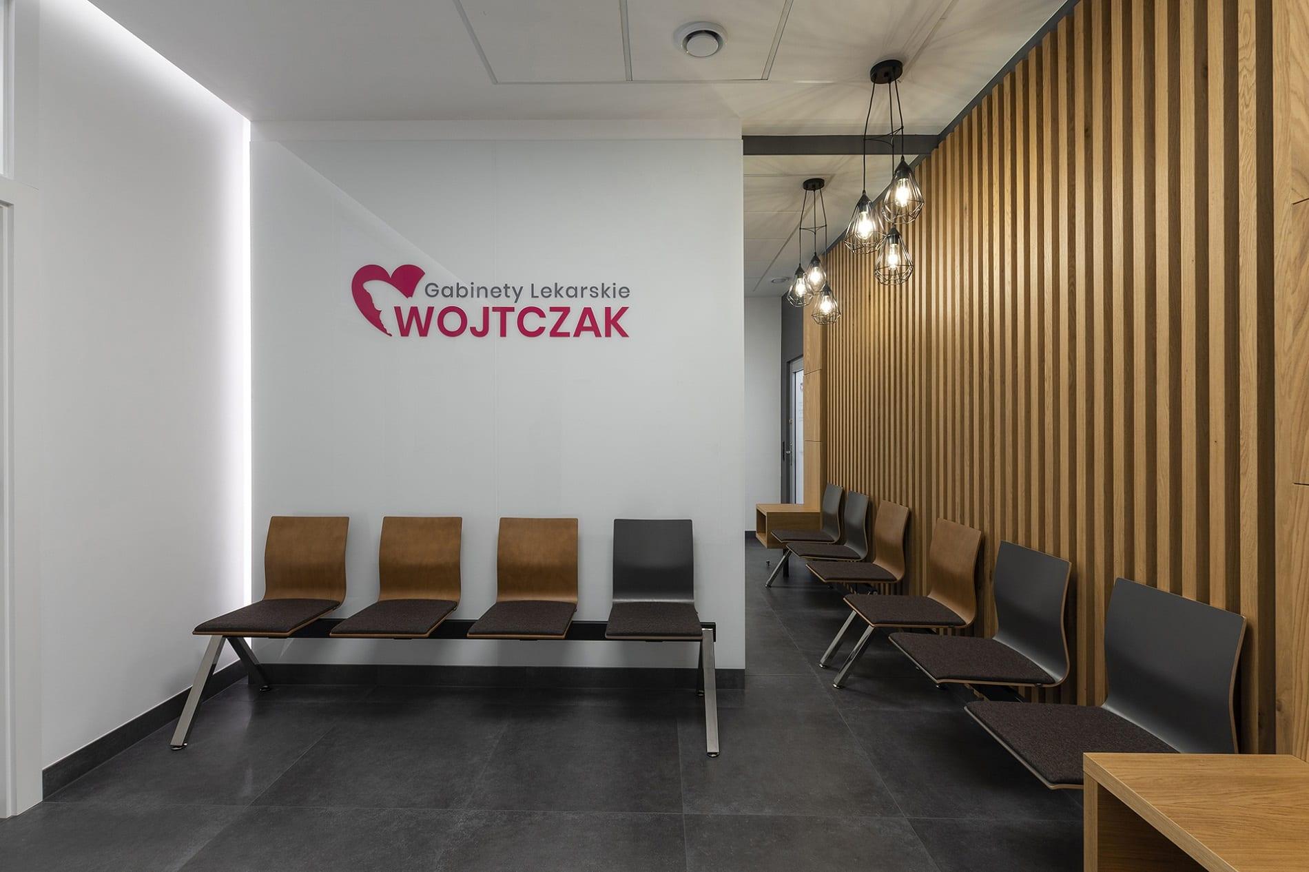 projekt architektoniczny wnętrza Gabinety Lekarskie Wojtczak - projektowanie wnętrz Prima Wrocław